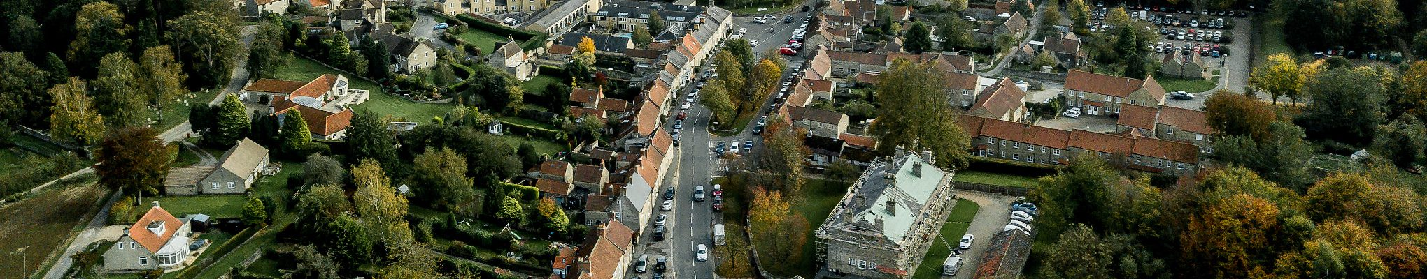banner image of Yorkshire village from overhead